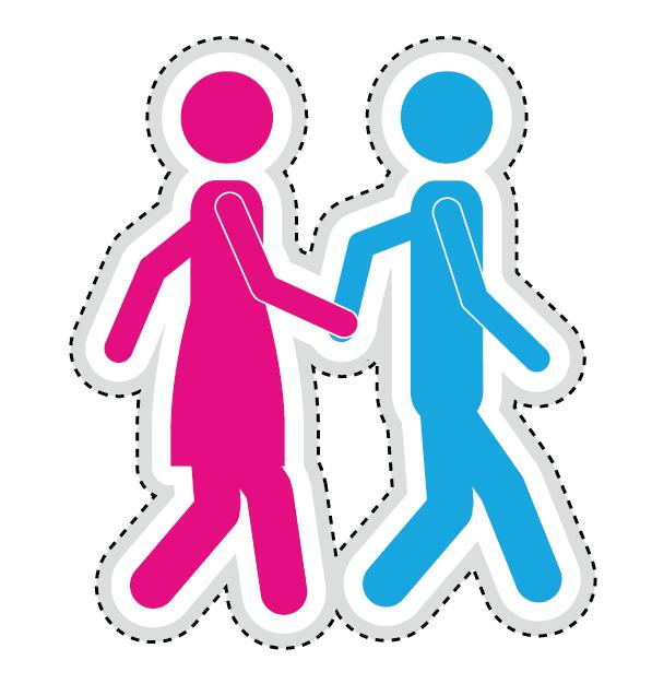 Couple romantic icons set 03