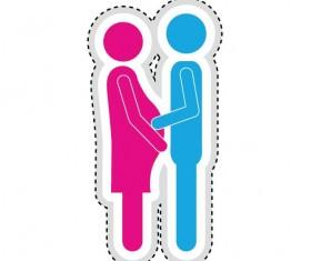 Couple romantic icons set 07