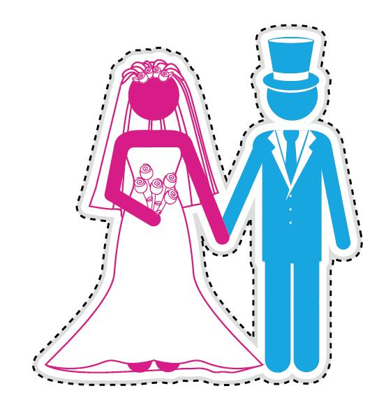 Couple romantic icons set 10