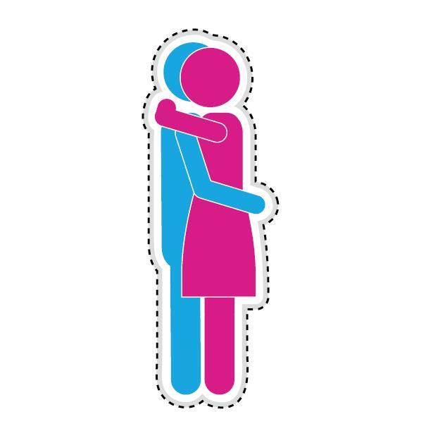 Couple romantic icons set 13