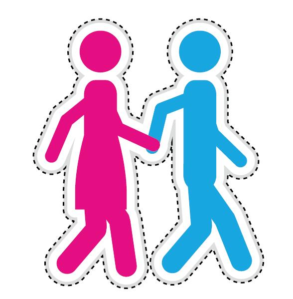 Couple romantic icons set 14