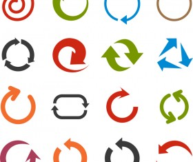 Cricles arrow icons vector
