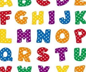 Cute alphabet comic vector
