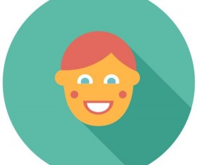 Cute boy icon vector