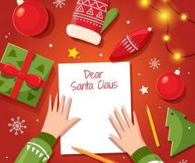 Dear santa claus christmas card vector