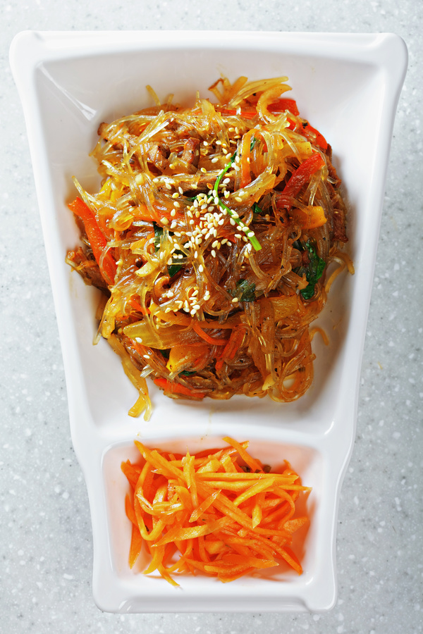 Delicious fried mustard with carrot silk HD picture 02
