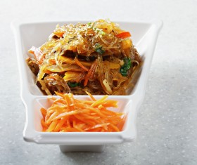 Delicious fried mustard with carrot silk HD picture 03