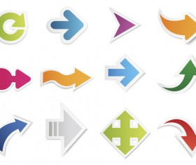 Different shapes arrow vector