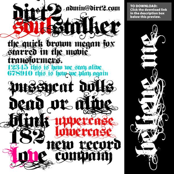 Dirt2 SoulStalker Free Font