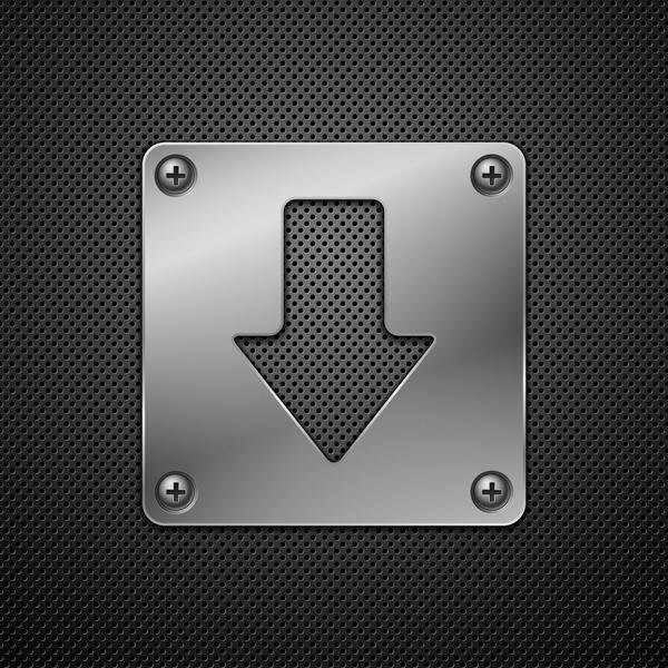 Download metal sign vector material