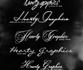 Exquisite hand drawing fonts pack
