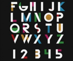 Fashion alphabet with numbers vector