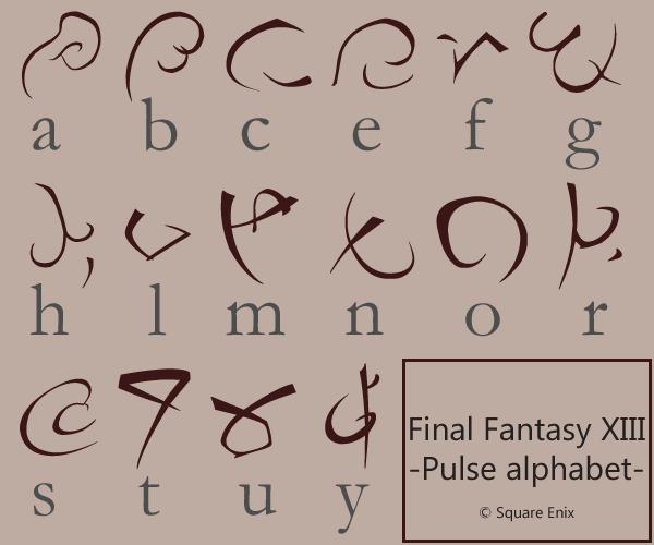 Final Fantasy Pulse font