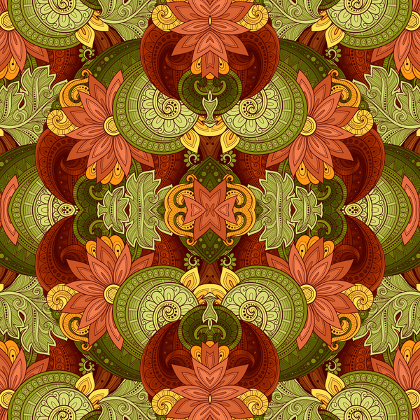 Floral retro pattern seamless vector 03