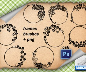 Frames Floral Brushes