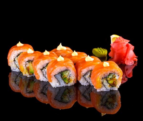 Fresh Salmon Sushi HD Picture Free Download