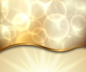 Golden background with abstract shiny vector