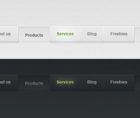 Gray and Black Psd Web Menu