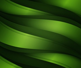 Green black elements abstract waves backgrounds