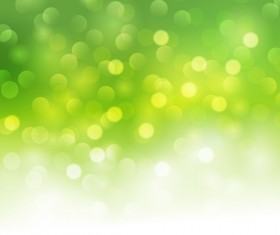Green blurs background with shiny light cricles vector