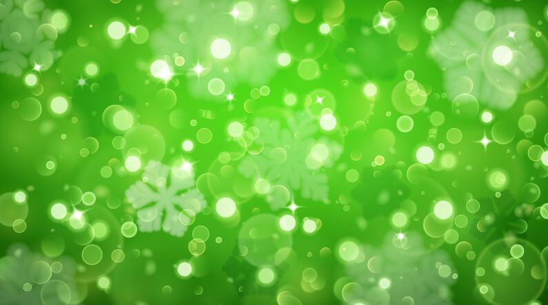 Green brilliant background with snowflake vector