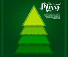 Green christmas greeting card design vector