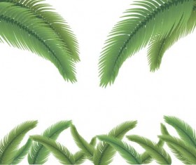 Green palm leaves backgrounds vector 08