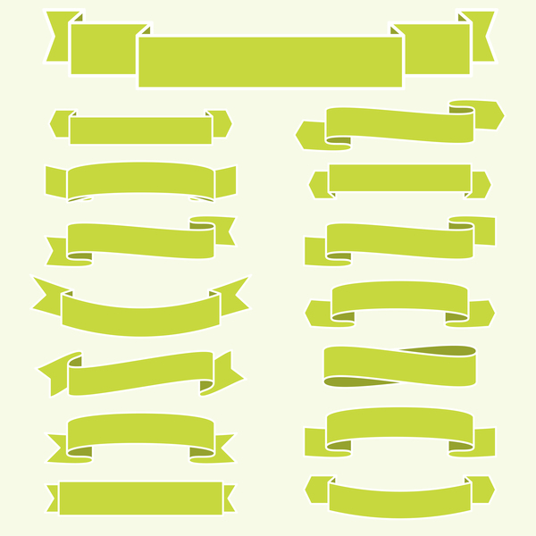 green ribbon banners vectors 02 free download rh freedesignfile com banner vector ai banner vector psp
