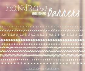 Handraw Banners photoshop brushes