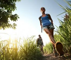 Hikers with backpack Stock Photo 30