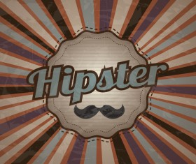 Hipster style grunge background vector 01