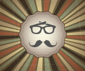 Hipster style grunge background vector 02