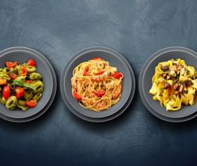 Italian pasta combinations HD picture