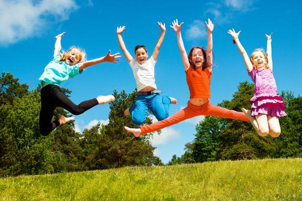 Jumping Happy Child Hd Picture Kids Stock Photo Free