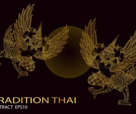 King bird thai tradition vector illustration