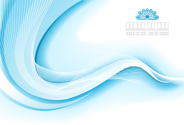 Light Blue Wavy Abstract Background Vector 10 Vector