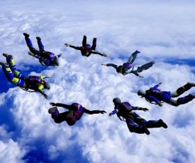 Limit parachuting aerial modeling Stock Photo 03