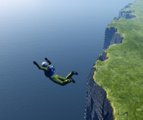 Limit skydiving movement Stock Photo