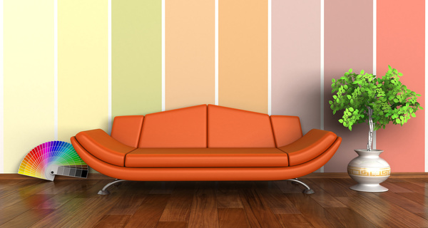 Living Room Background living room with sofa and warm tones on wall background hd picture