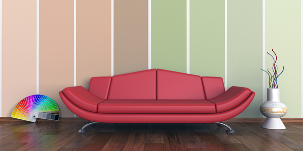 Living room with sofa and warm tones on wall background HD picture ...