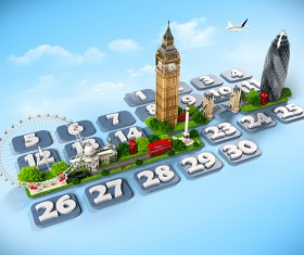 London traveling concept Stock Photo 02