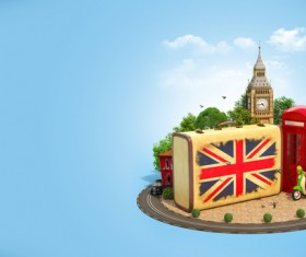 London traveling concept Stock Photo 03
