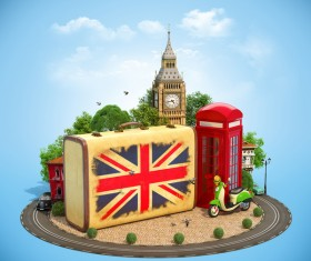 London traveling concept Stock Photo 04