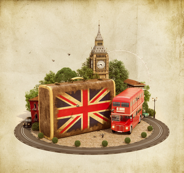 London traveling concept Stock Photo 05