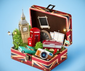 London traveling concept Stock Photo 07