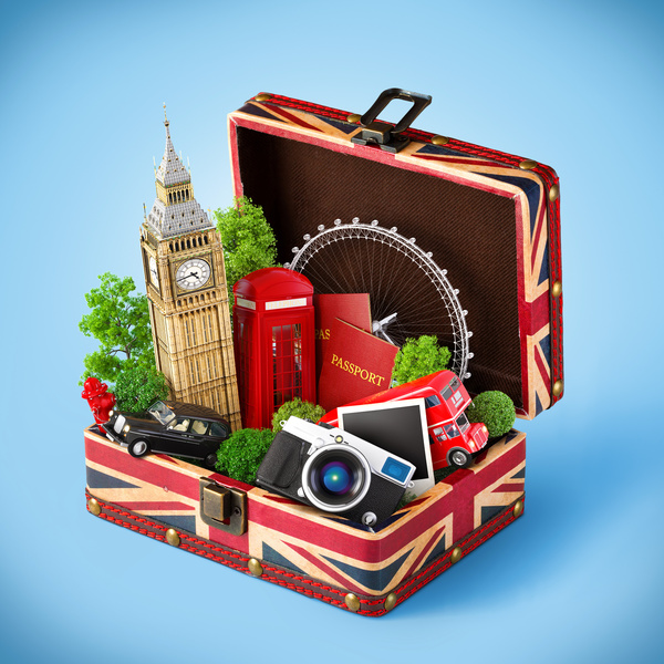 London traveling concept Stock Photo 08