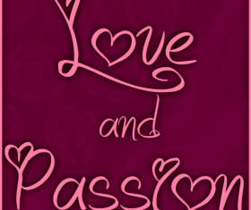 Love with Passion font