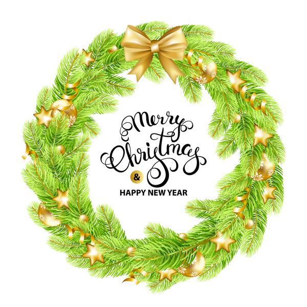 Merry christmas frame elegant vector material
