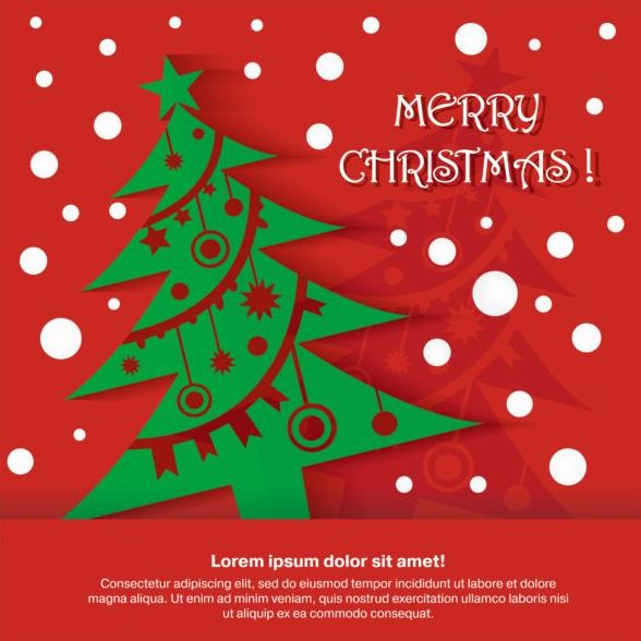 Merry Christmas Red Greeting Card Vector   Vector Card, Vector Christmas  Free.