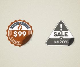 Modern Vintage Stickers Badges Psd